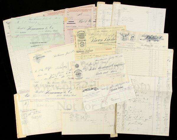 12: Archive of San Francisco clothiers, tailors, etc.