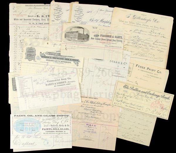 17: Various San Francisco Merchant Bill & Letterheads