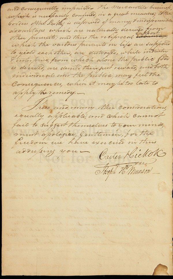 21: ALs advising route of Canada-Vermont Road 1800