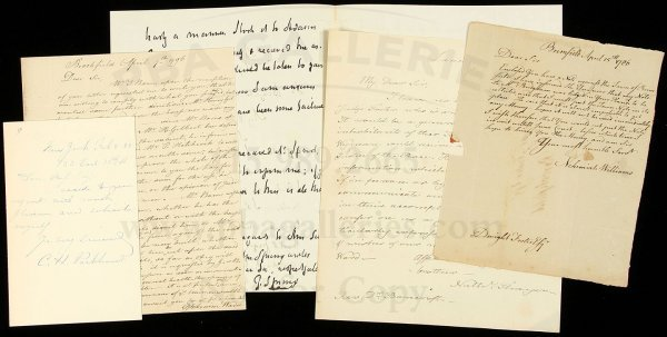 24: Letters from American clergymen 18th/19th cents.