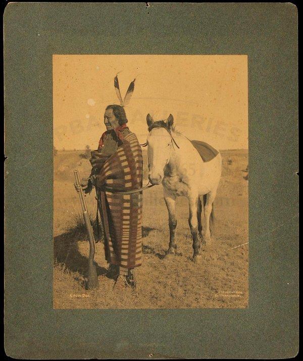 111: Hand-tinted photograph of Lakota Chief Crow Dog