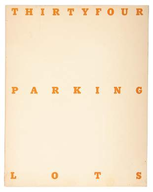 Thirtyfour Parking Lots in Los Angeles, Ed Ruscha, 1974