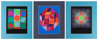 Vasarely's Microcosmos: A Suite of Six Serigraphs