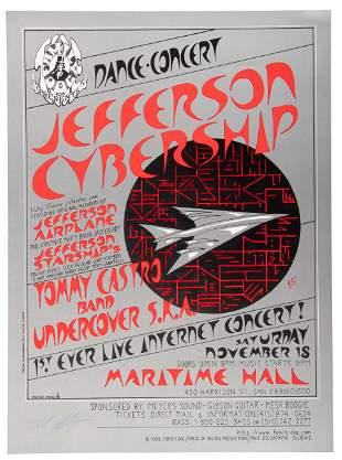 1995 Jefferson Cybership poster, signed