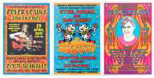 6 posters signed & designed by Dennis Loren