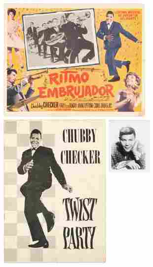 3 Early 1960s Chubby Checker promo items