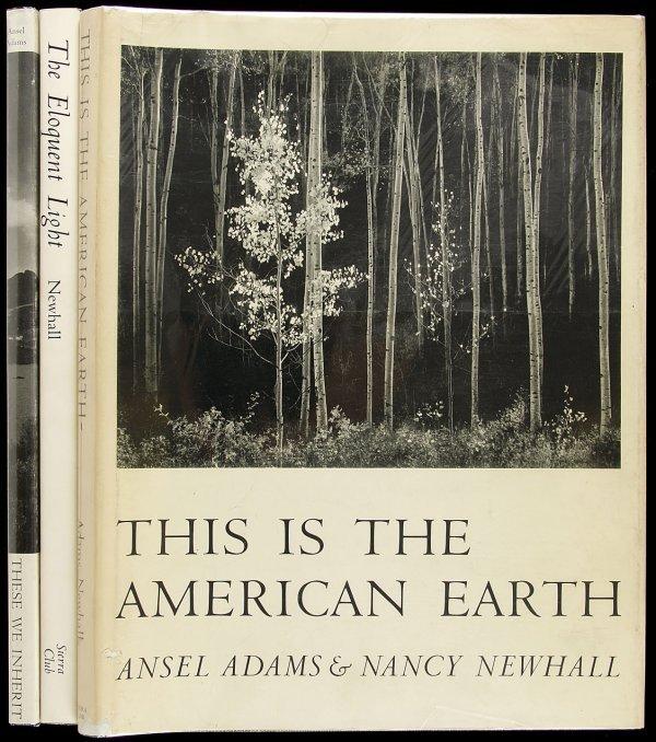 11: 3 Sierra Club Ansel Adams photo books
