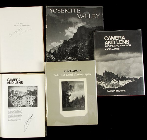 12: 5 signed books by Ansel Adams