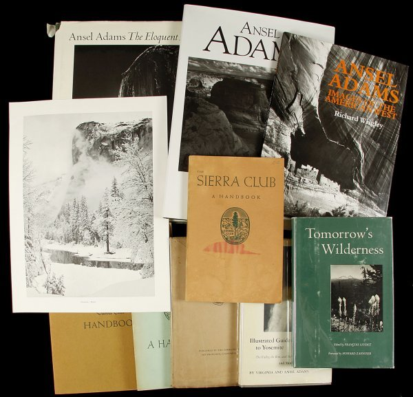15: 12 books on or by Ansel Adams