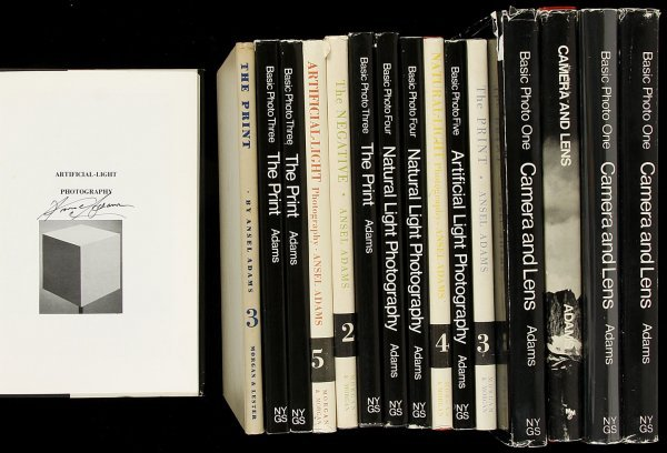 17: 16 books from Ansel Adams' Basic Photo series