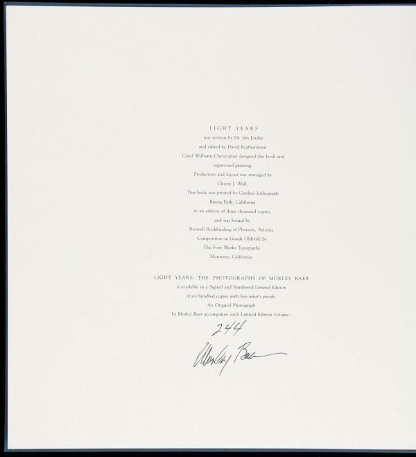 23: Photographs of Morley Baer 1988 signed lmtd ed