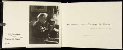 34: lithographs of Thos Hart Benton, signed 1st ed