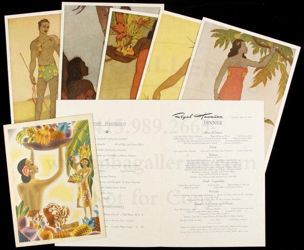 103: 20 color menus and menu covers from Hawaii