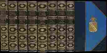 385 Finely bound set of Shakespeares works