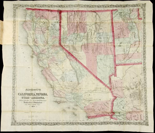 1: Bancroft's Map of California, Nevada, Utah & AZ