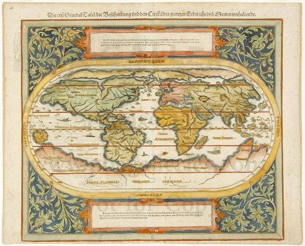 5: Munster map of the World c.1588
