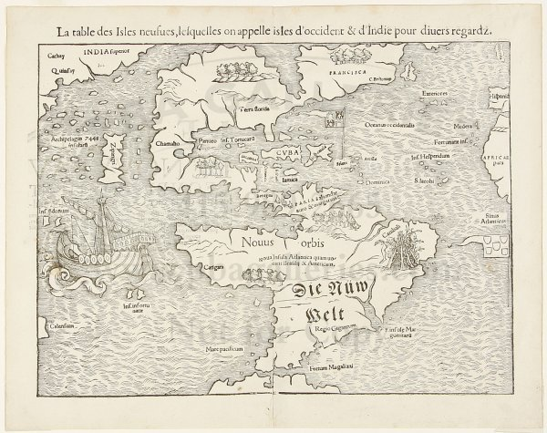 6: Munster map of New World 1556