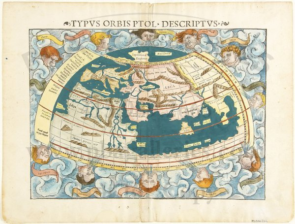 7: Munster map of the old world c.1545