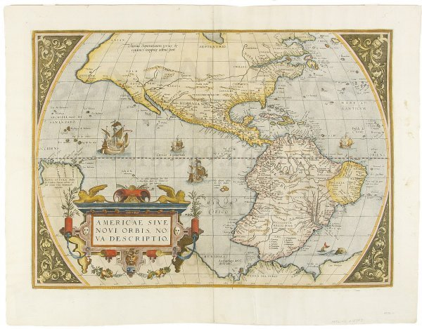 8: Ortelius' landmark map of Americas