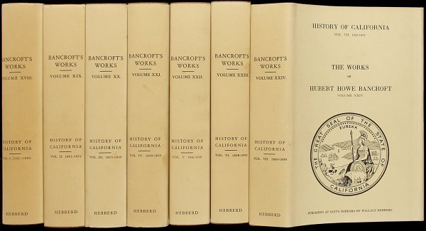 24: Bancroft's History of California - 7 Volumes
