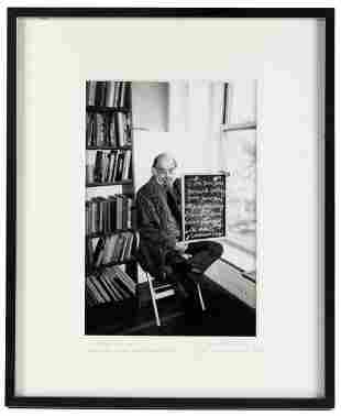 Photograph of Allen Ginsberg, 1996 - signed