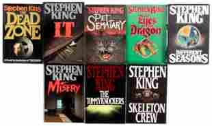 Eight 1st editions by Stephen King