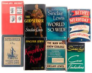 Eight works by Sinclair Lewis