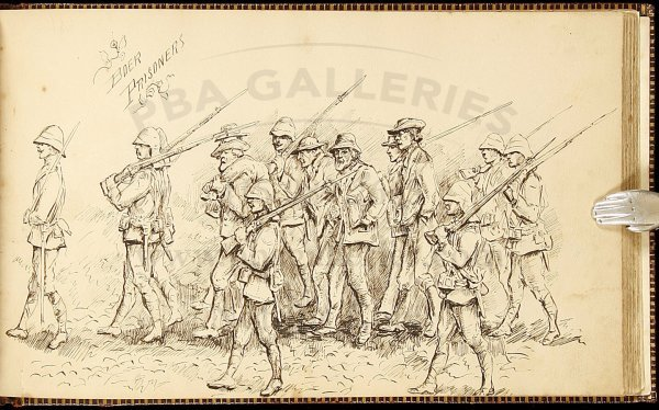 2: Original drawings & watercolors of Boer War