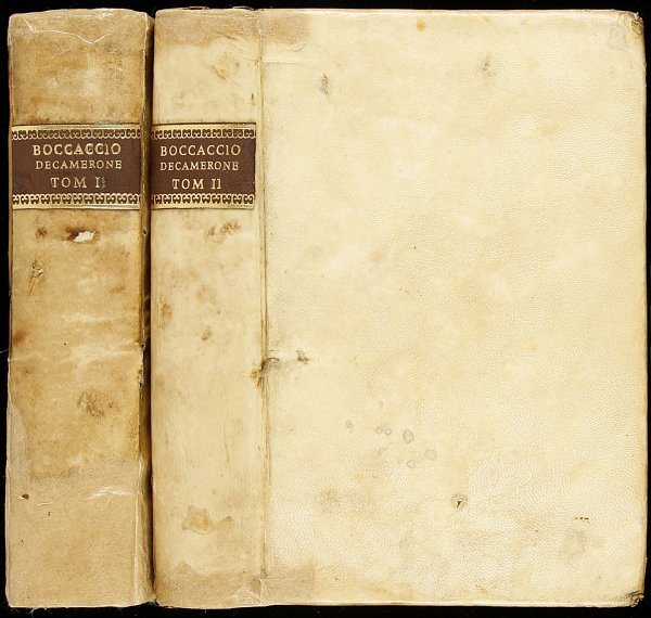 11: Decameron by Boccaccio in Italian 1761 2vols