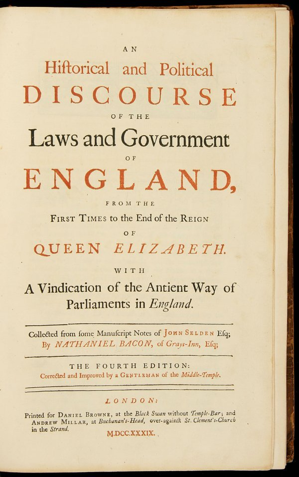13: Discourse of the Laws and Government of England