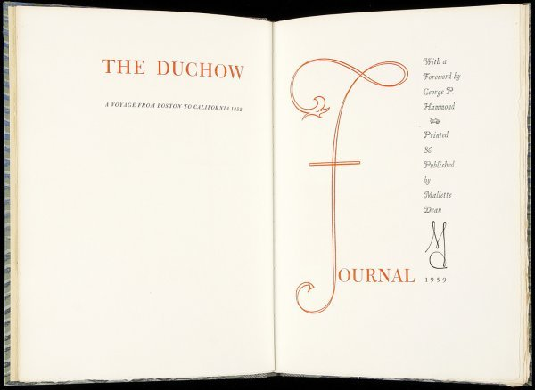 11: Duchow Journal Voyage to CA - Allen Press 1/200
