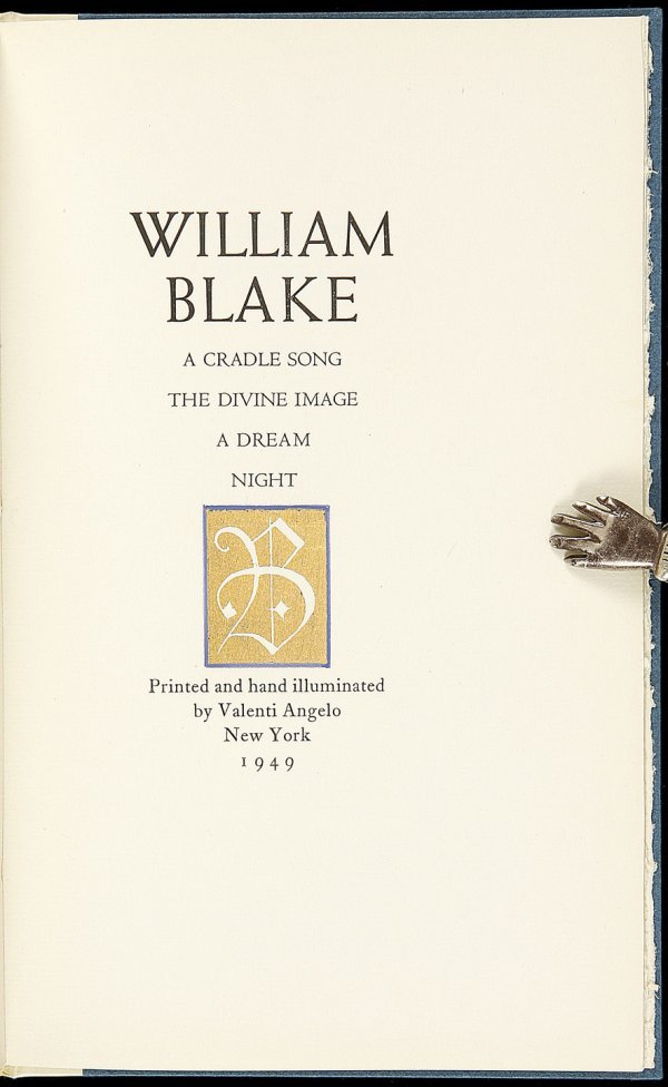 24: Valenti Angelo printing of William Blake