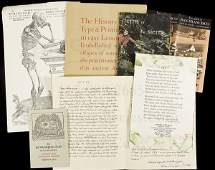 113 collection of ephemera from various fine presses