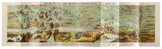Chromolitho pictorial panorama of Mormon Route