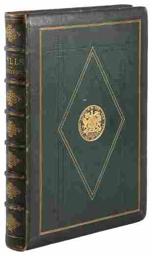 Idylls of the King in prize binding, illustrated by