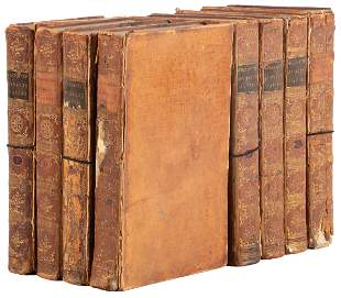 Oliver Goldsmith History of the Earth 8 vols. 1779