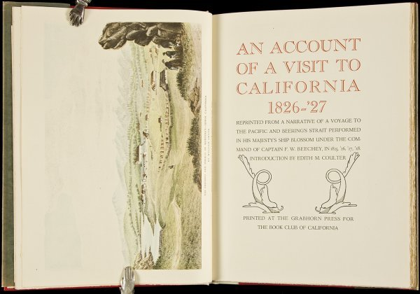 18: F.W. Beechey's California Voyage Grabhorn Press
