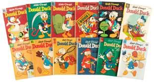 Donald Duck: Lot of 12 Dell Comics