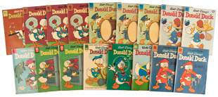 Donald Duck: Lot of 17 Dell Comics * 1950s-60s