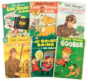 Lot of Six Dell Comics, 1950s