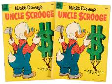 Uncle Scrooge No. 9 * 2 Copies * VG- * 1955