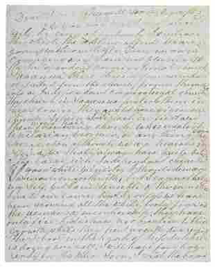 Freed slave's letter from Liberia