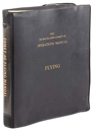 Flying manual for DeHavilland Comet jetliner