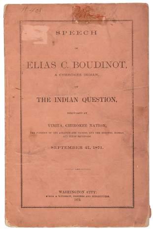 1872 speech by Cherokee advocate Elias Boudinot