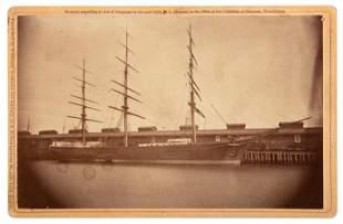 Clipper Sailing Ship At Oakland Wharf 1873