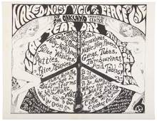 Rare poster for anti-war rally, 1968
