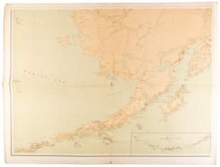 Large color map of southwest Alaska