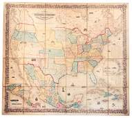 Large Colton map of United States 1854