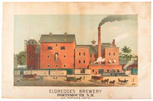 Rare color lithographs of New Hampshire brewery