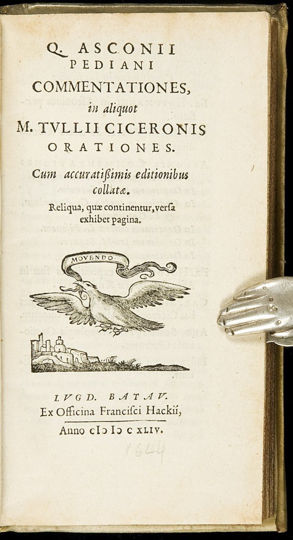5: Asconius Pedianus on Cicero 1644